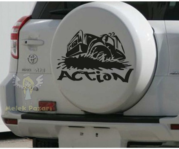 Action Off Road Jeep Araba Sticker