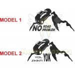 No Road No Problem Off road Dakar Araba Sticker