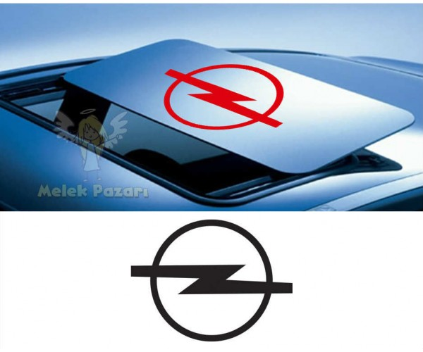 Opel Sunroof Oto Sticker