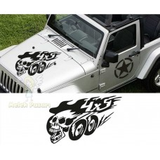 4x4 Off Road Kafatası Oto Sticker
