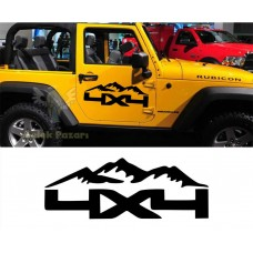 4x4 Off Road Dağ Oto Sticker