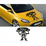 Tazmanya Canavarı Ford Araba Sticker