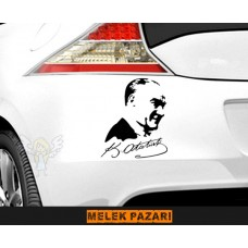 Atatürk Oto Sticker