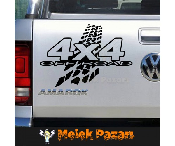 4 X 4 Lastik izi Araba Sticker