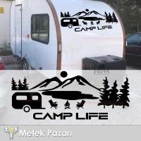Yazı Tercihli, Camp Life Orman Kamp Araba Karavan Sticker