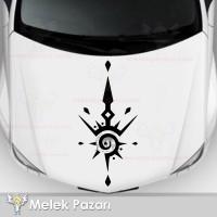 Tribal Kaput, Gövde Oto Sticker, Araba Stickerı