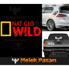 2 Adet Nat Geo Wild Oto Sticker, Araba Stickerı