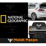 2 Adet National Geographic Oto Sticker, Araba Stickerı