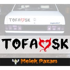 2 Adet Tofaşk Şeytan Araba Sticker, Oto Sticker