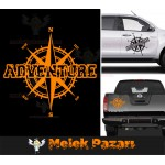Macera - Adventure Pusula Off Road Araba Sticker