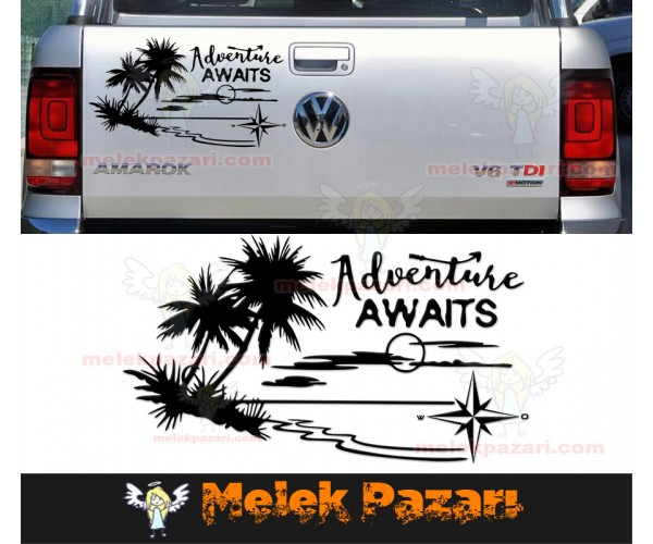 Macera Bekliyor, Adwenture Awaits Off Road Oto Sticker
