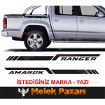 Kişiye Özel Pick Up Off Road Bagaj Yan Şerit Oto Sticker