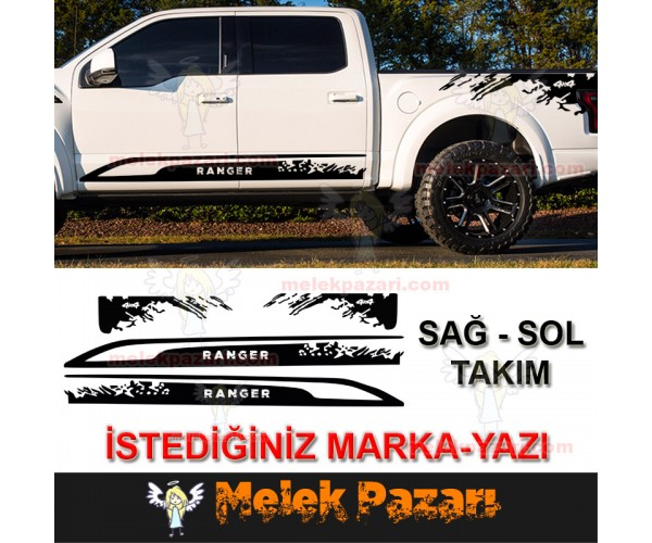 Kişiye Özel Pick Up Off Road 4x4 Oto Sticker