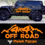 4x4 Off Road Araba Sticker