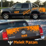 Amarok Gövde Off Road 4x4 Araba Sticker