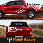 Toyota Hilux Revo ve Vigo uyumlu Gövde Off Road Araba Sticker