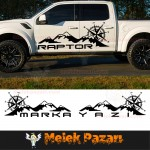 Pusula Dağ Off Road Araba Sticker