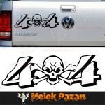 4x4 Kuru Kafa Off Road Araba Sticker