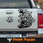 4x4 Off Road lastik izi Araba Sticker