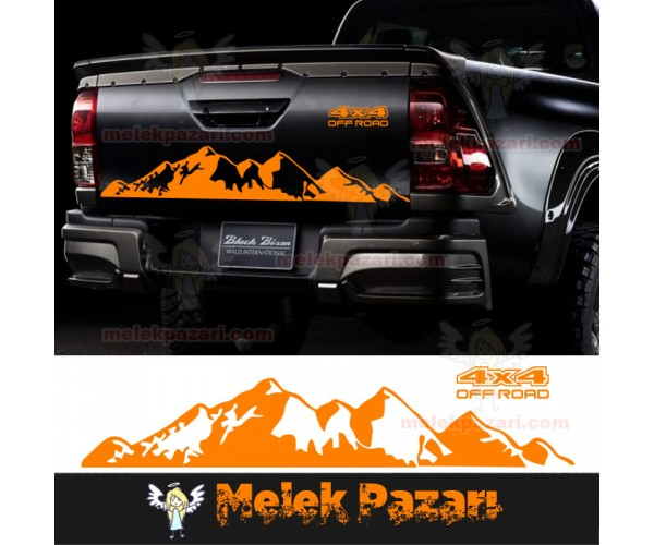 Dağ 4x4 Off Road Arka Kapak Araba Sticker