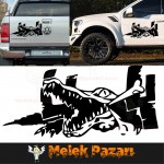 Timsah 4x4 Off Road Araba Sticker