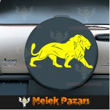 Aslan Araba ve Duvar Sticker