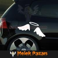 Melek Kanatları Araba Sticker