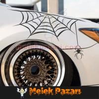 Örümcek Ağı Araba Sticker