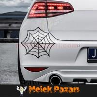 Örümcek Ağı Oto Sticker
