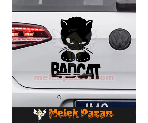 Bad Cat, Kötü Kedi Araba Sticker
