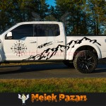 Pusula Dağ 4x4 Off Road Araba Sticker