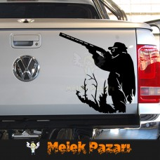 Avcı Araba Sticker