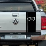 4x4 Şerit Off-Road Araba Sticker