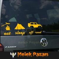 Eat, Sleep, Off Road Araba sticker