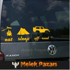 Eat, Sleep, Off Road Araba sticker