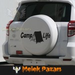 Camp Life, Outdoor Araba Sticker