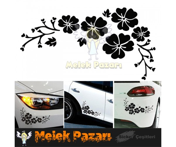 Çiçek Araba Sticker. Flover Car Sticker