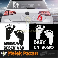Baby On Board - Dikkat Bebek Var Araba Sticker S1986