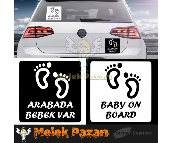 Baby On Board - Dikkat Bebek Var Araba Sticker S1987