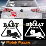 Baby On Board - Dikkat Bebek Araba Sticker
