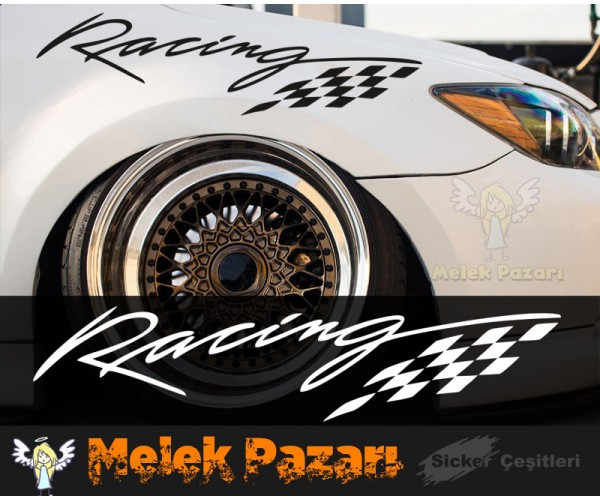 Racing Bayrak Araba Sticker