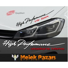 High Performance Araba Sticker