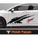 Sport Araba Yan Sticker