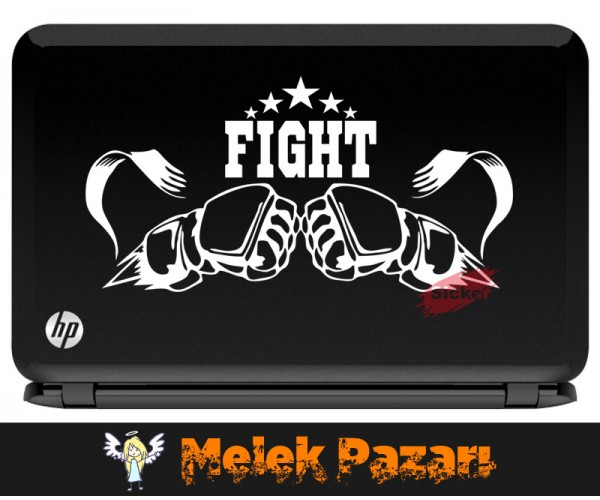 Fight Dövüş Spor Salonu Laptop Sticker