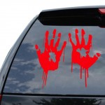 Zombi Elleri Araba Sticker