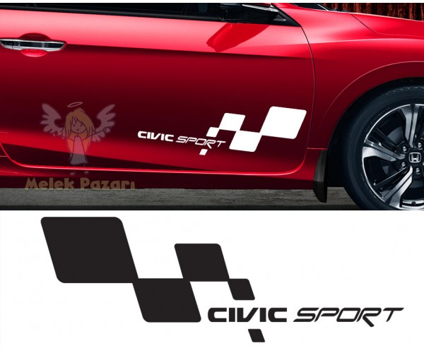 Honda Civic Sport Araba Sticker