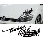 Tuning Girl Araba Sticker
