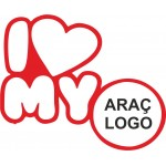i My Love Araç Logonuz Araba Sticker