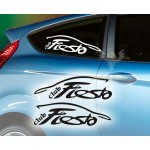 Club Fiesta Araba Sticker. Sağ Sol set