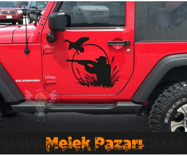 Ördek Avcısı Hunter  oto Sticker